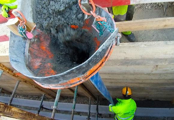 Beton arbeiten in Tiefbau