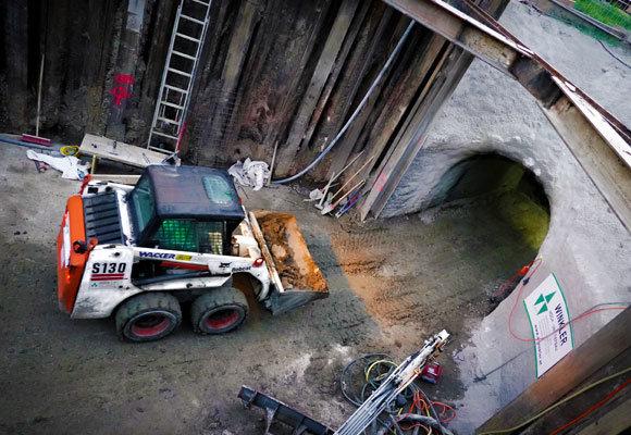 Baustelle Tunnelbau